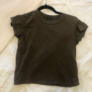 John Galt Brandy Melville green t-shirt